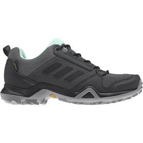 adidas TERREX AX3 Gore-Tex Hiking Shoes Waterproof Women, grey five/core black/clear mint